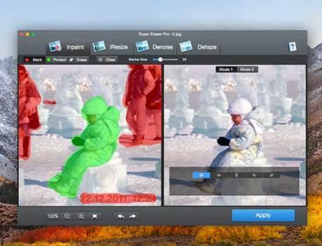 Super Eraser Mac – Effacer des Elements d'une Photo (gratuit)