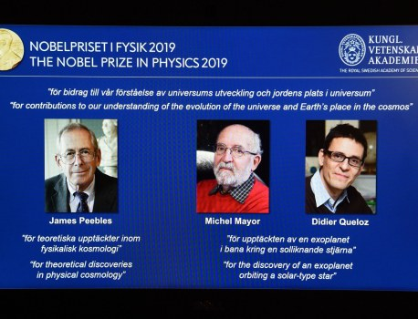 The Physics Nobel Goes to the Big Bang and Exoplanets