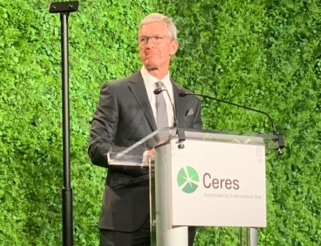 Tim Cook Promotes Sustainability at Ceres Gala in New York City
