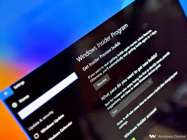 Windows Insider program settings