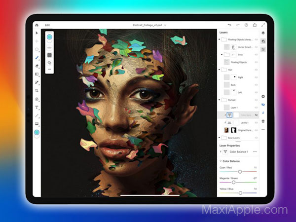 adobe photoshop iphone ipad gratuit 03 - Adobe Photoshop Original Dispo sur iPad Pro (video)