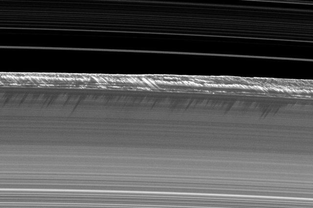 a horizontal view of ring's edge