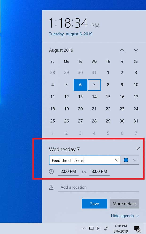Windows 10 v1909 alias November 2019 Update - Agenda