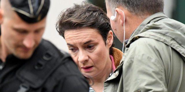 Sabine Khéris lors d'une reconstitution à Auxerre (Yonne), le 3 octobre 2018./PHOTOPQR/L'YONNE REPUBLICAINE/Jérémie Fulleringer