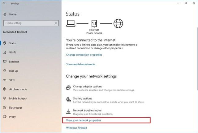 Network status settings