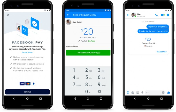 Facebook Pay launches in the US, works across Messenger, Instagram, and WhatsApp too