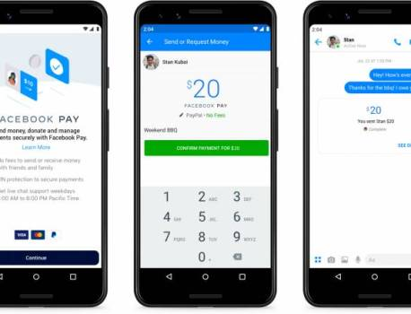 Facebook Pay now availalbe in the U.S., soon for Instagram, WhatsApp