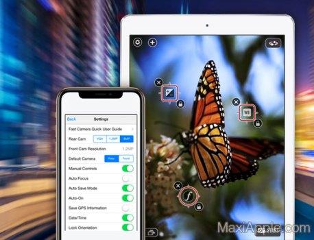 Fast Camera iPhone iPad – Mode Rafale, TimeLapse et Effets (gratuit)
