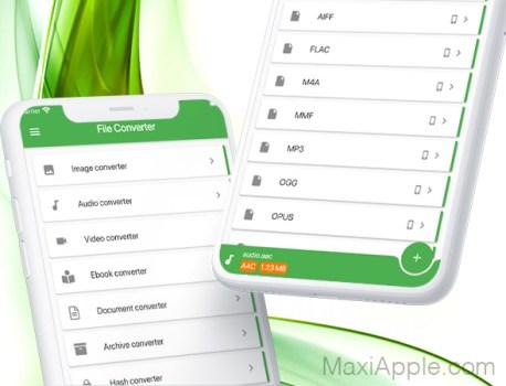 File Converter iPhone iPad – Convertisseur Audio, Video, Image, Doc (gratuit)