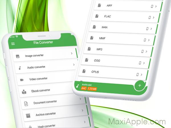 file converter app iphone ipad ios 01 - File Converter iPhone iPad - Convertisseur Audio, Video, Image, Doc (gratuit)