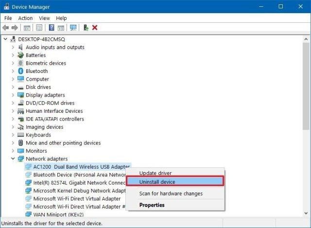 Device Manager uninstall hidden hardware