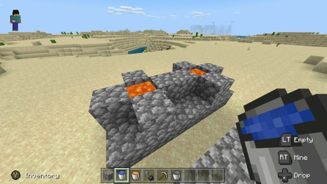 Nether portal mold with pillars