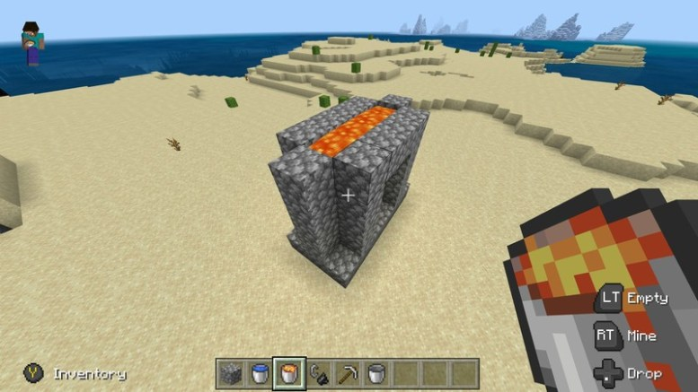 Nearly finished Nether portal