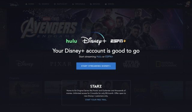Disney+ bundle sign up confirmation