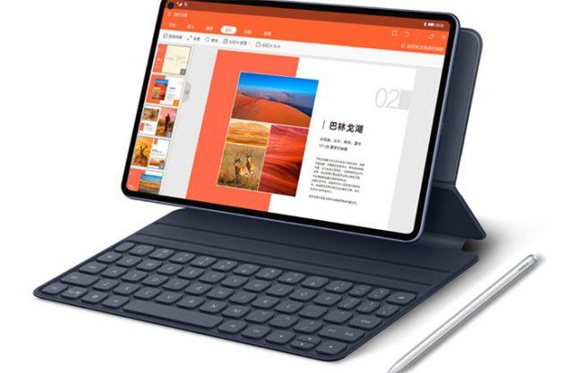 Le Huawei MatePad Pro et sa housse clavier