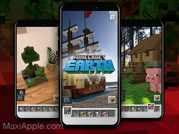 mojang jeu minecraft earth iphone ipad ios 02 - Jeu Minecraft Earth iPhone iPad en Réalité Augmentée Dispo (gratuit)