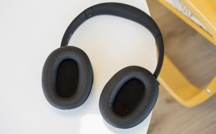 The headphones - front and rear
