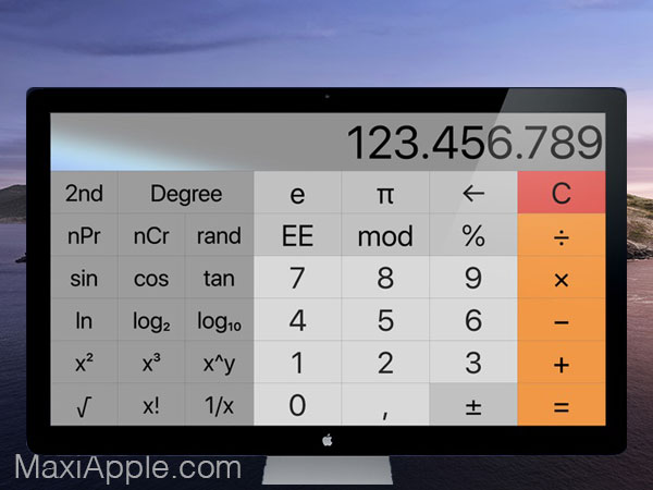 resizable calculator pro macos mac 2 - Resizable Calculator Pro Mac - Calculatrice Scientifique Modulable