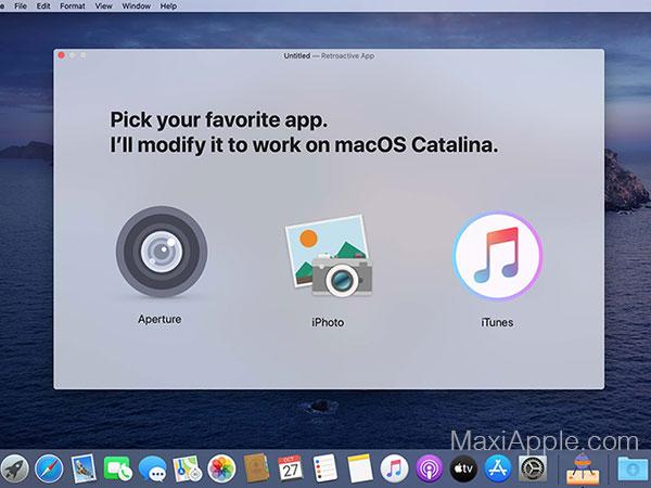 retroactive macos mac gratuit 01 - Retroactive Mac - Utiliser sur Catalina iTunes, iPhoto, Aperture (gratuit)