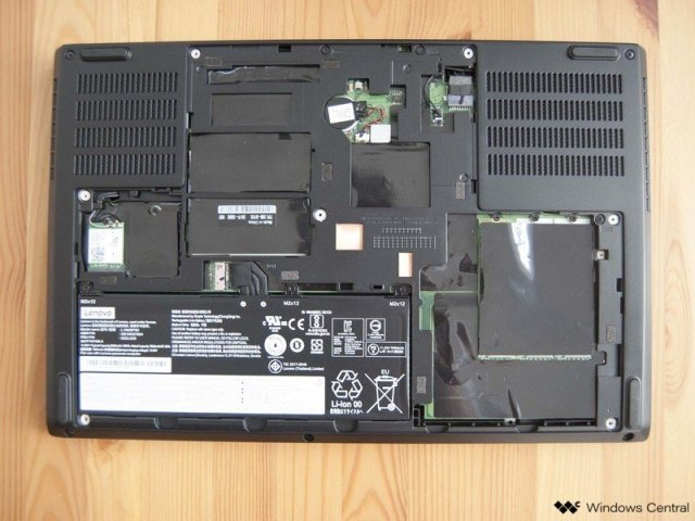 Lenovo ThinkPad P53 with back panel removed