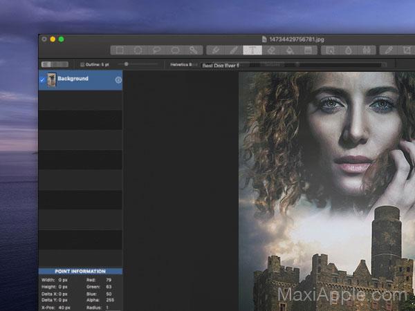 seashore macos mac 002 - Seashore Mac - Alternative à Photoshop Element (gratuit)