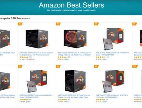 Top 10 des meilleures ventes processeurs, AMD domine l'offre DIY