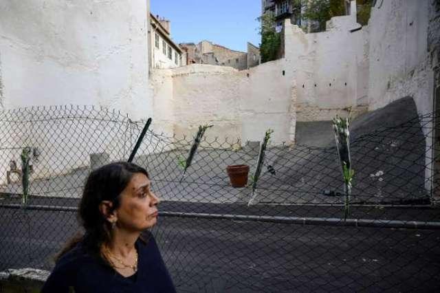 A l'emplacement des deux immeubles effondrés de la rue d'Aubagne, le 5 novembre.