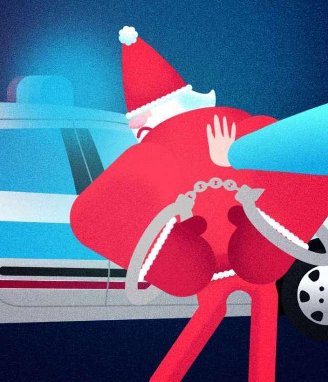Arrestation du Père Noël.