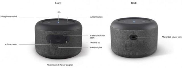 Amazon unveils battery-powered Echo Input Portable Smart Speaker Edition
