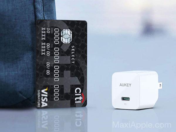 mini chargeur rapide aukey minima 27w usb c iphone macbook 03 - AUKEY Minima, Mini Chargeur USB-C iPhone 3x Plus Rapide