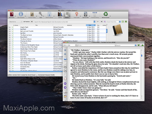 calibre macos mac gratuit 02 - Calibre Mac - Meilleur Gestionnaire de Livres Numériques (gratuit)