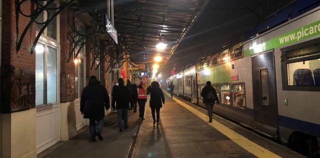 La gare de Beauvais ce jeudi peu après 6 heures./LP/Clémence Bauduin