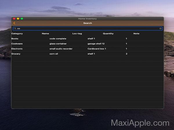 easy home inventory macos mac gratuit 03 - Easy Home Inventory Mac - Gestionnaire d'Inventaire Personnel (gratuit)