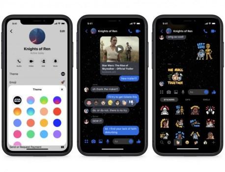 Facebook Messenger adds new Star Wars dark theme