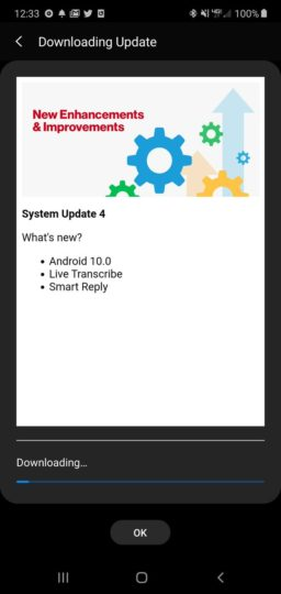 note 10 verizon update android 10