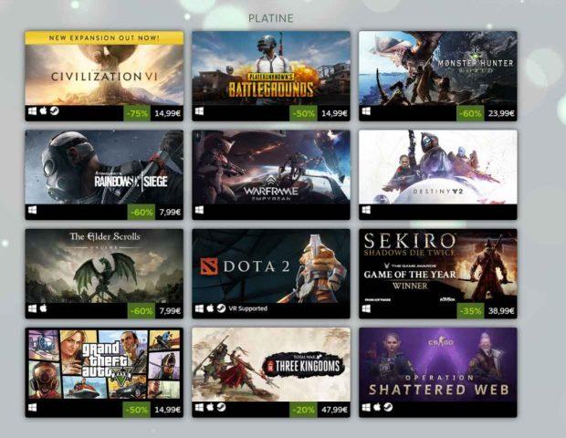 Steam - Top 2019 des meilleures ventes de jeux vidéo sur PC