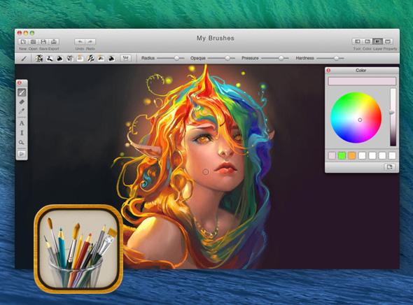 MyBrushes Mac OSX 1 - MyBrushes Mac - Outil de Dessin, Peinture et Retouche (gratuit)