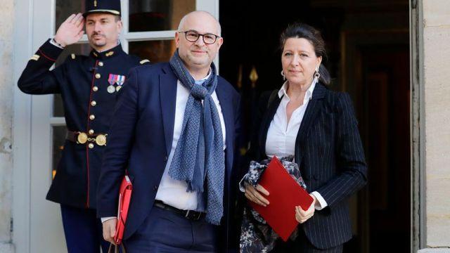 Laurent Pietraszewski, le nouveau secrétaire d'Etat aux Retraites, et Agnès Buzyn, la ministre des Solidarités et de la Santé.