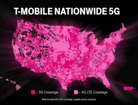T-Mobile launches first nationwide 5G network, now official