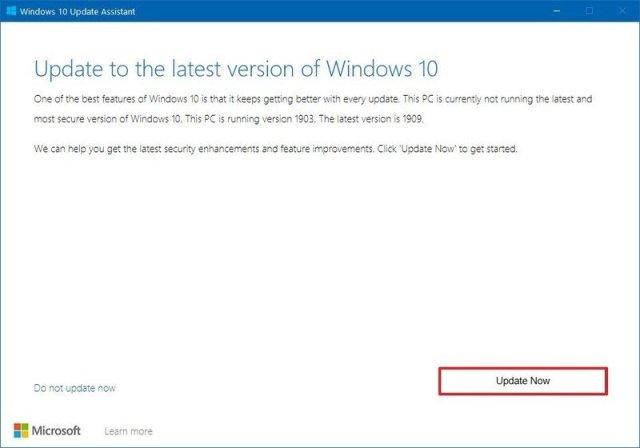 Windows Update update assistant tool