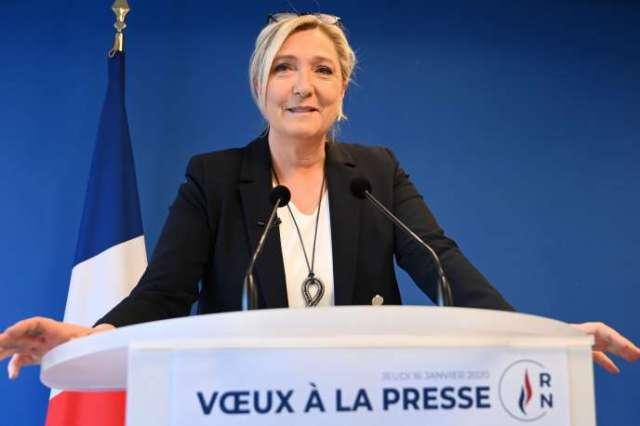 Marine Le Pen à Nanterre, le 16 janvier.
