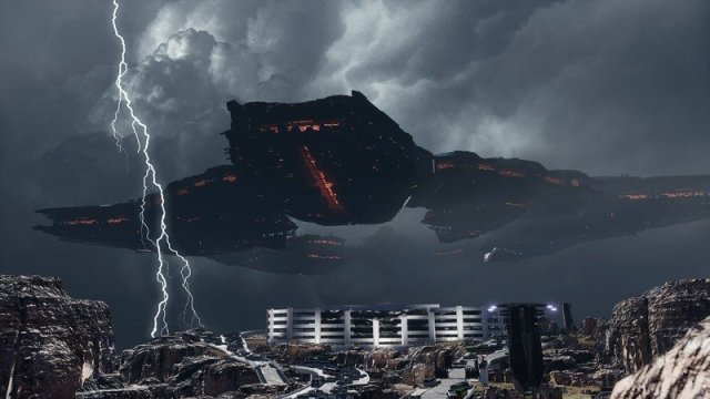 colossal ship in Disintegration