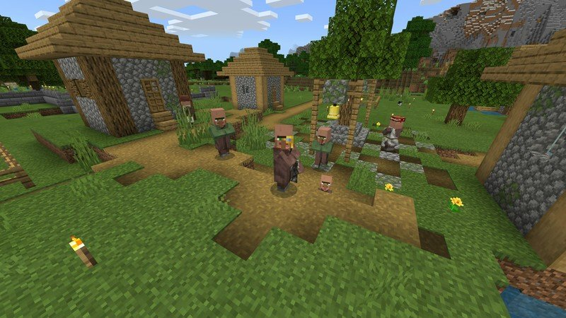 Some happy villagers