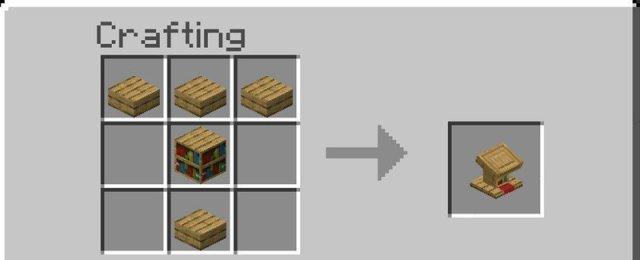 Lectern crafting recipe