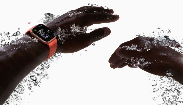 Swimming with an Apple Watch