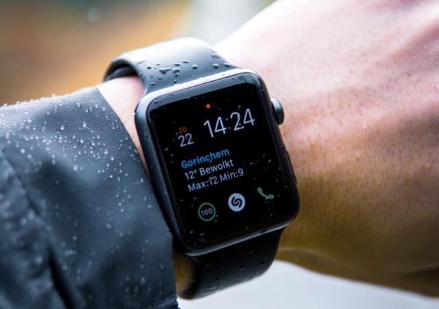 Apple Watch in the rain