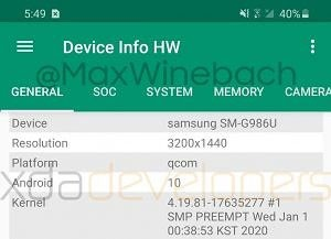 More leaks of Samsung Galaxy S20+: 120Hz display, in-display scanner, 4,500 mAh battery, and no headphone jack