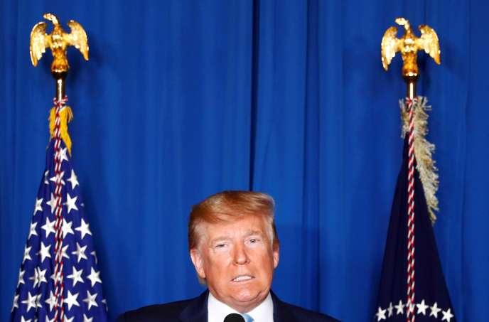 Le président américain Donald Trump commente l'attaque américaine sur Bagdad, le 3 janvier en Floride.