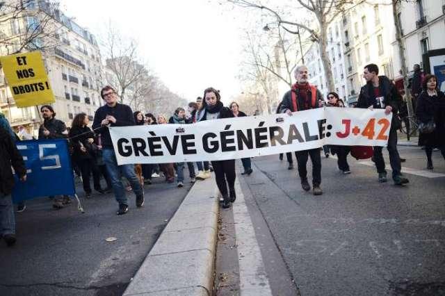 Manifestation contre la réforme des retraites à Paris, le 16 janvier.