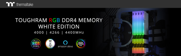 TOUGHRAM DDR4 RGB White Edition de Thermaltake